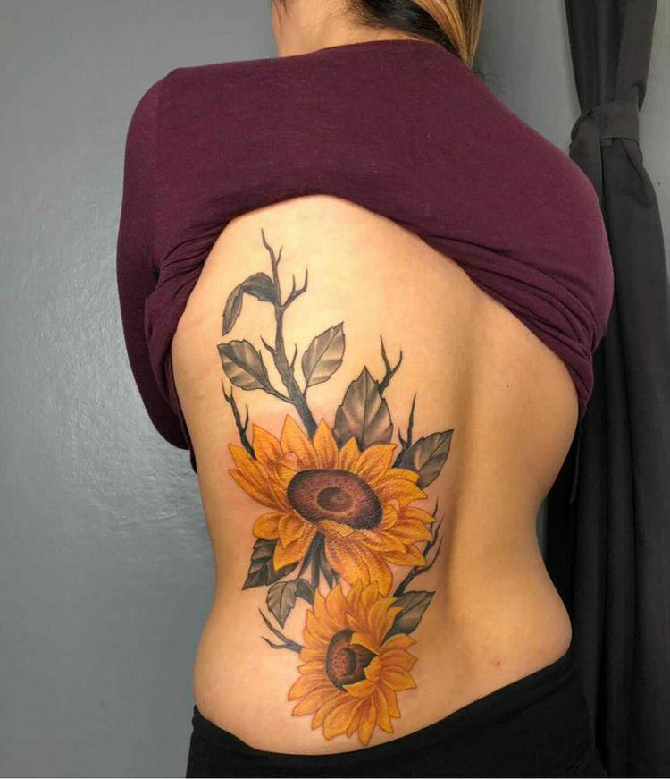 Maui flower tattoo