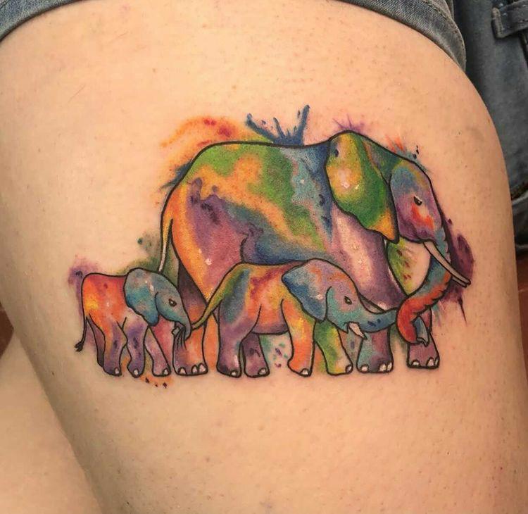 Maui tattoo guest artist elephants