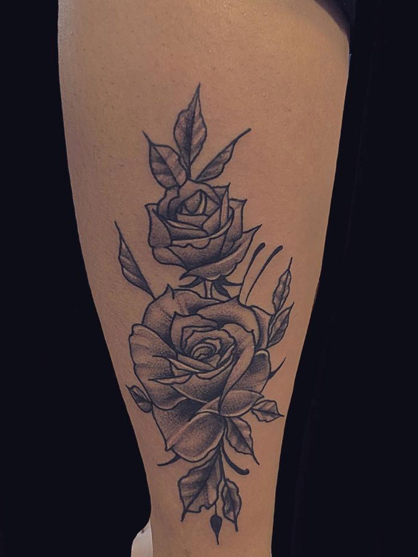 Maui Tattoo Artist plant tattoo